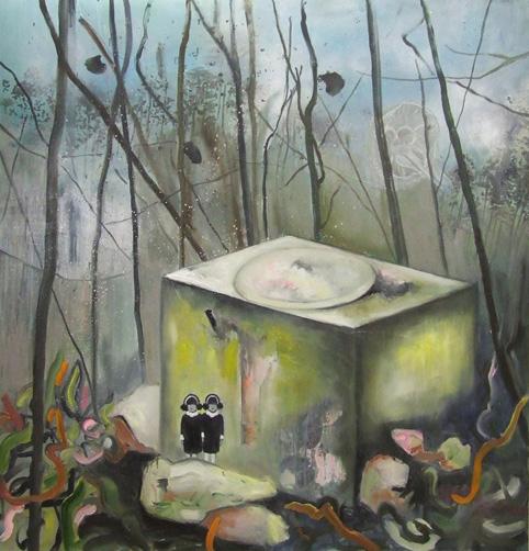 Tanja Vetter: Mistery, 2009, Öl/LW, 140x145cm