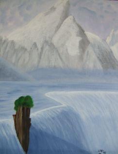 Ulrike Fries: Eiswasserfall