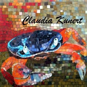 "Claudia Kunert: Mosaikbild ""Harlekinkrabbe"""
