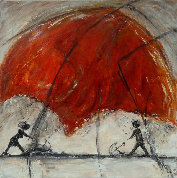 Edeltraud Brown: under the umbrella